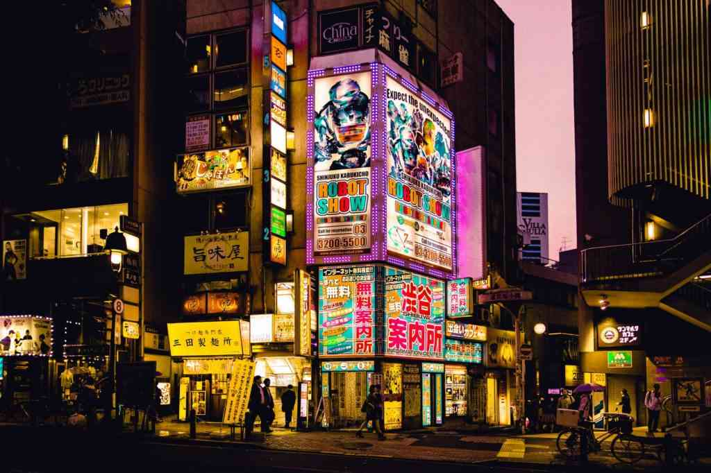 Tokyo lights at night Tokyo with kids