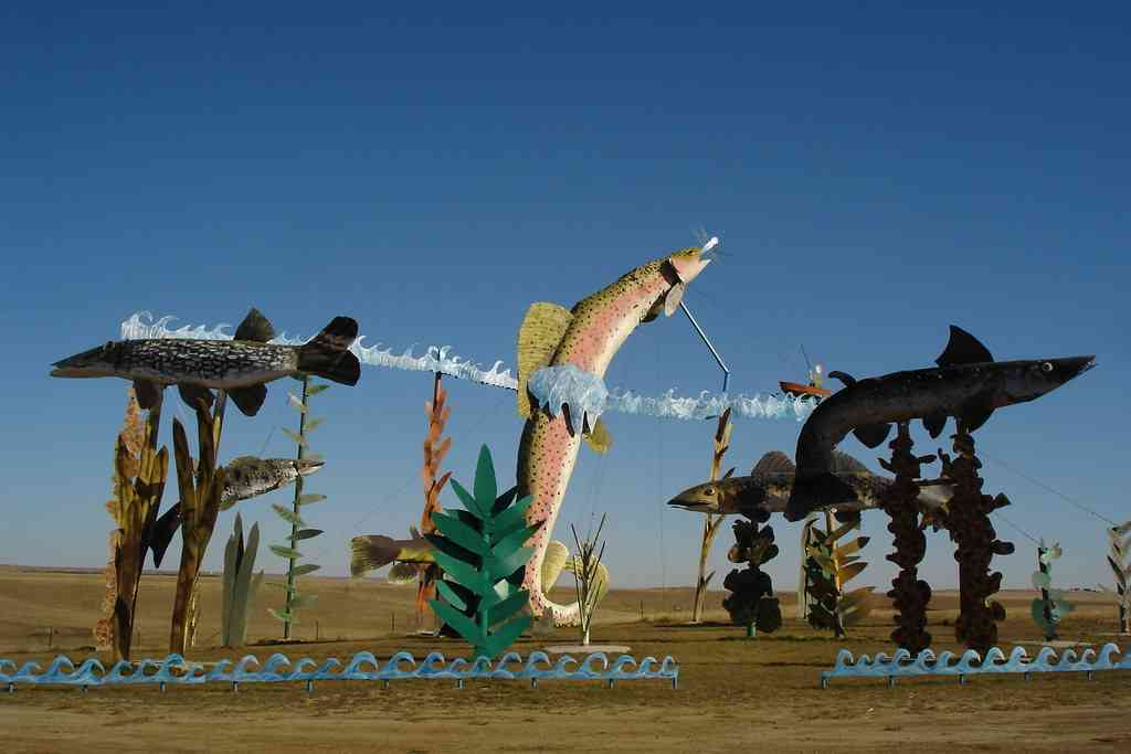 The Enchanted Highway is one of the best places to visit during COVID