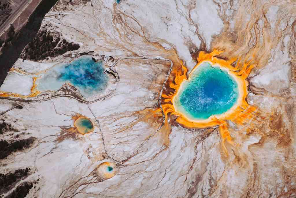 The Grand Prismatic Spring is one of the best places to stay during COVID