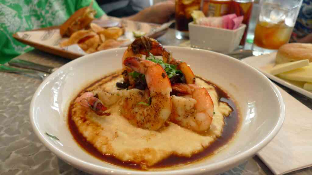 Shrimps are grits are one of the best things to eat in Charleston with kids