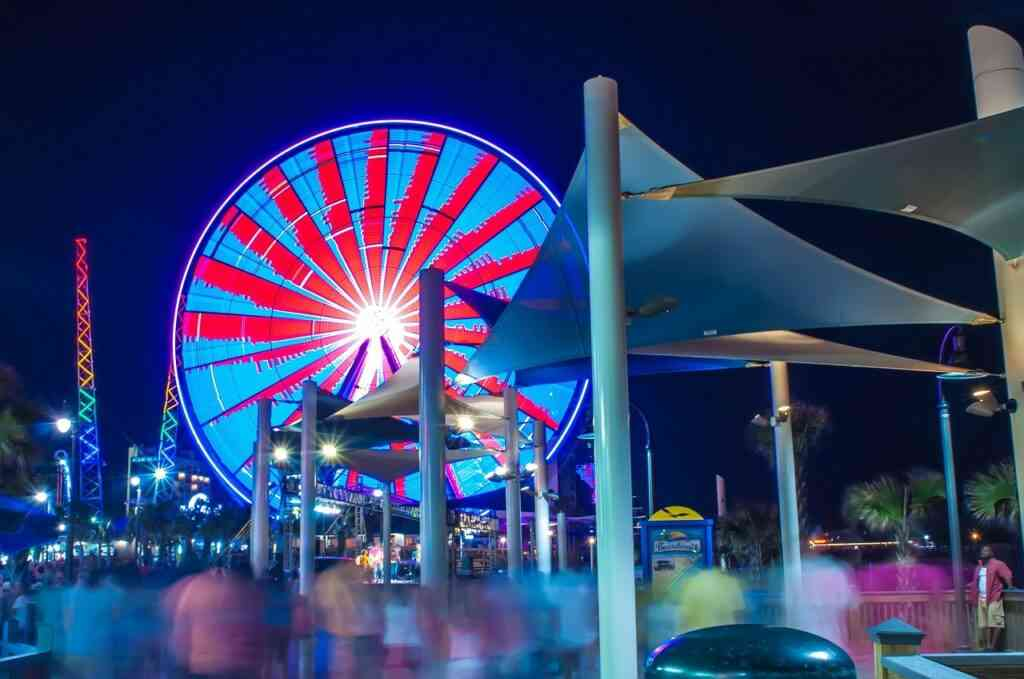Broadway at the beach is one of the best things to do in Myrtle Beach with kids