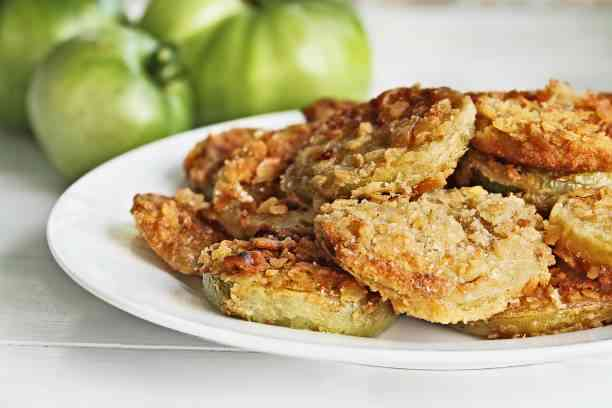 Fried Green Tomatoes are  one f the best things to wat in Charleston with kids