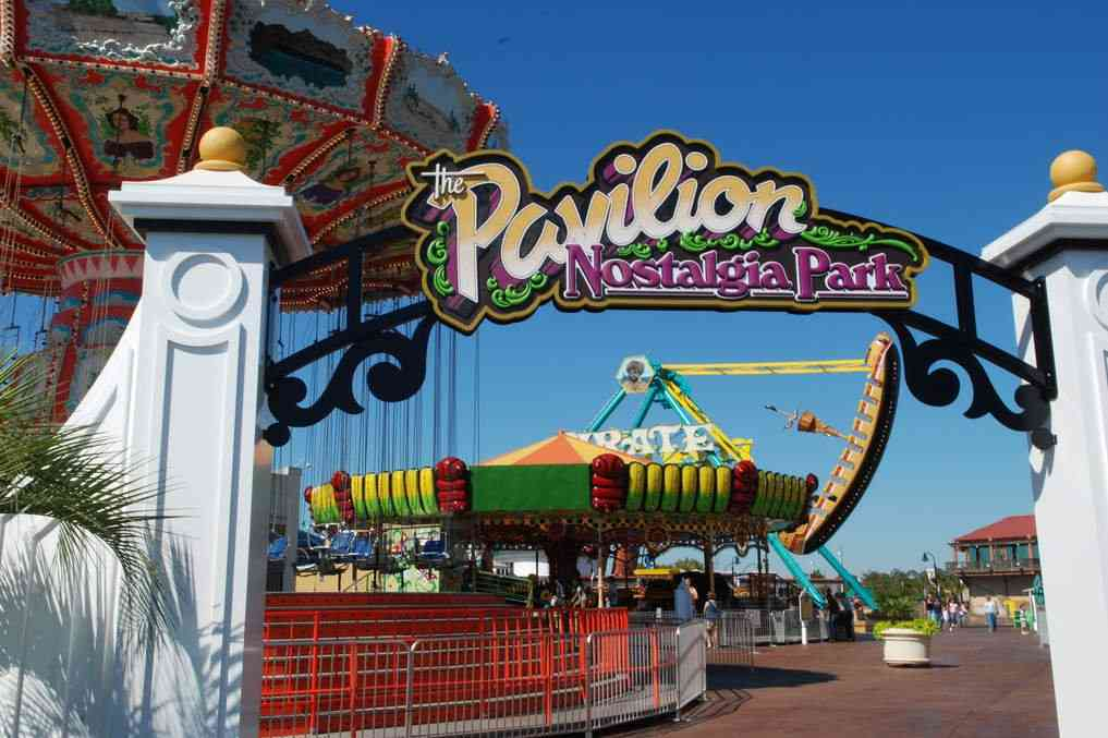 The Pavilion Nostalgia Park is one of the best things to do in Myrtle Beach with kids